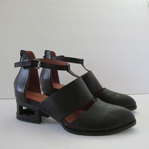 Jeffrey Campbell | Carina Leather Cutout Booties